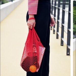 Handbags - Crochet French Market Bag - Red